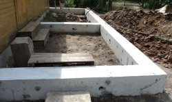 Ленточный фундамент под веранду