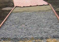 Укладка на цементно-песчаную смесь