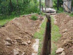 Подземная прокладка водопровода