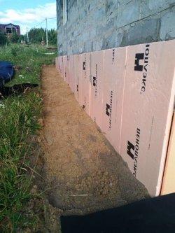 Устройство отмостки - слой глины