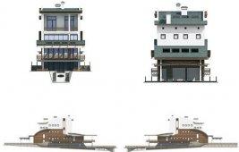Проект трехэтажного дома с мансардой - фасады