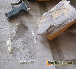Демонтаж приклееного пеной блока