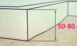 Фундамент для дома из газобетона Высота фундамента под дом из газобетона