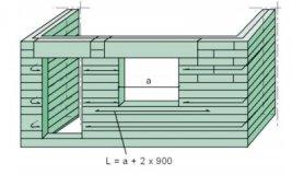 Схема армирования проемов в стене из пеноблоков