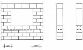 Схема армирования проемов из пеноблоков под окнами