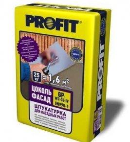 Штукатурка машинного нанесения для ячеистого бетона Profit Контакт МН