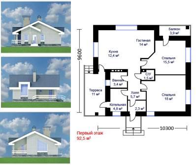 Проект кирпичного дома своими руками 295