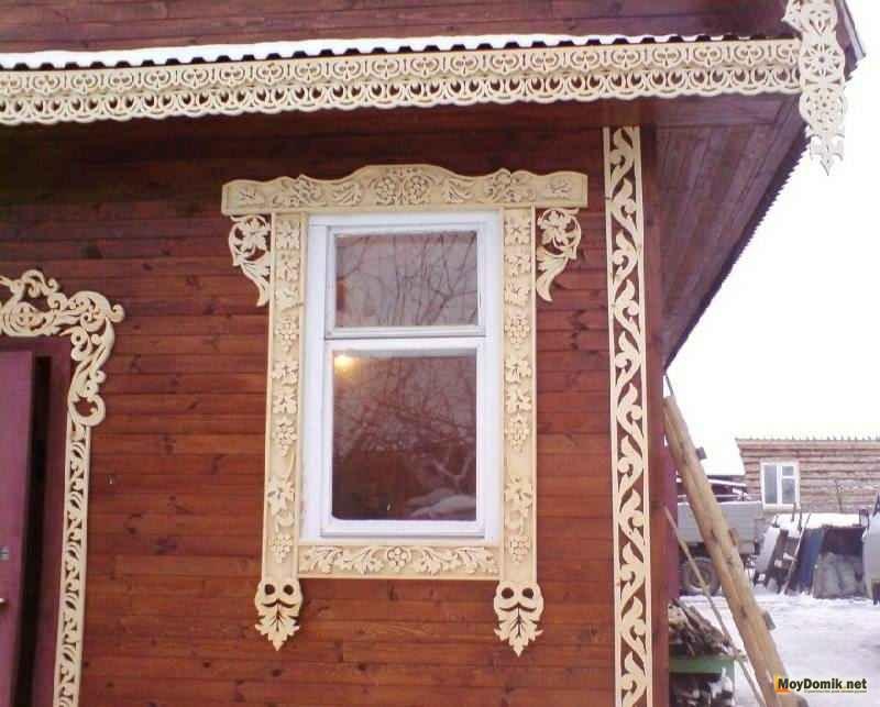 фото деревянные наличники на окна