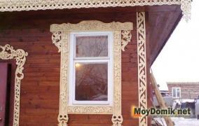 Резные деревянные наличники на окна - 4