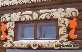Резные деревянные наличники на окна - 5