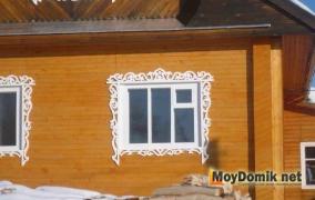 Резные деревянные наличники на окна - 3