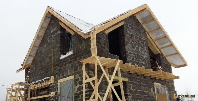 Как строить дом из арболитовых блоков своими руками 504