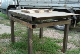 Столешница для вибростола из листовой стали