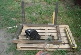 Конструкция рамы вибростола для плитки