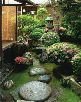 Ландшафтный дизайн вокруг фонтана