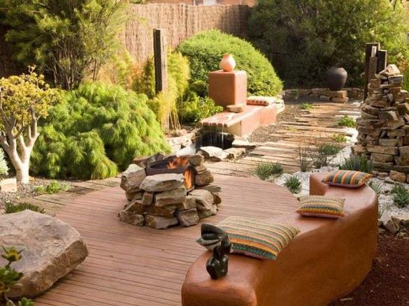 Ландшафтный дизайн дачного участка в африканском стиле
