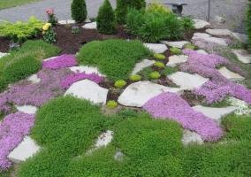 Клумбы-цветники в ландшафтном дизайне частного дома