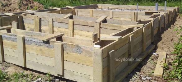 Фундамент для дома из газобетона – какой лучше выбрать под газоблок, ленточный, монолитный, свайный, столбчатый, из кирпича