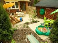 Ландшафтный дизайн зоны отдыха, столовая зона и зона для игр