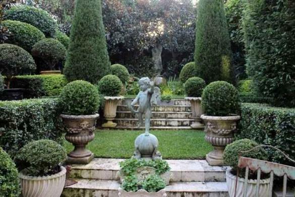 Дизайн классического партерного сада
