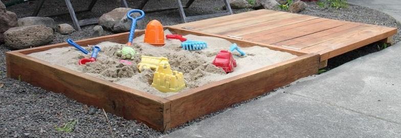 Изготовление детской песочницы своими руками 73