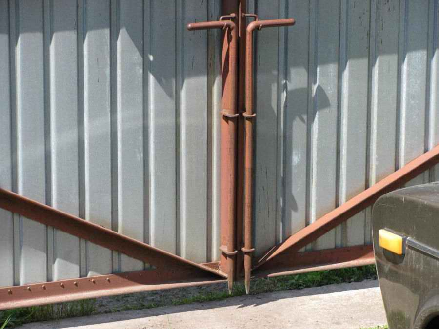 Ворота с калиткой из профлиста своими руками фото фото 242