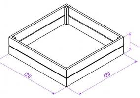 Схема деревянной песочницы