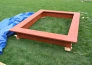 Деревянная песочница для дачи - 21
