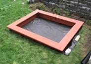 Деревянная песочница для дачи - 25