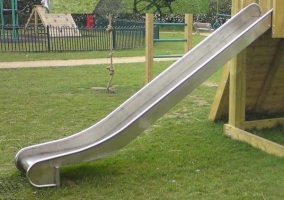 Металлический скат для детской горки