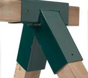 Насадка квадратного сечения для связки каркаса для качелей
