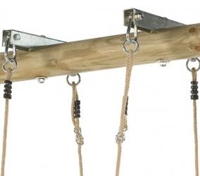 Качельный узел для крепления качелей на перекладине