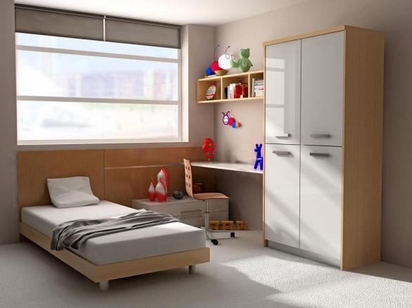 Зонирование комнаты для школьника