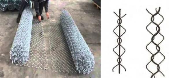 Соединение двух рулонов сетки рабицы в один