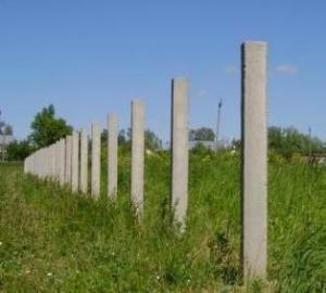Бетонные столбы для забора из рабицы