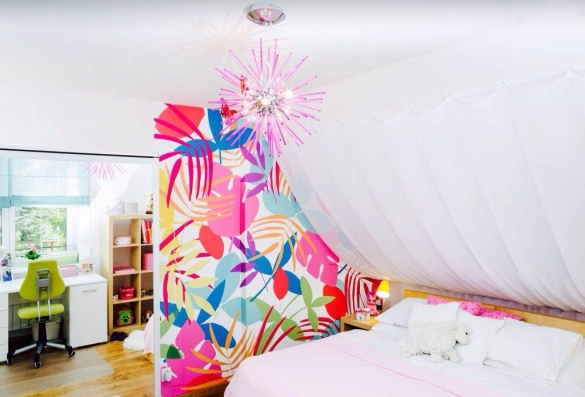 Текстиль в комнате для девочки
