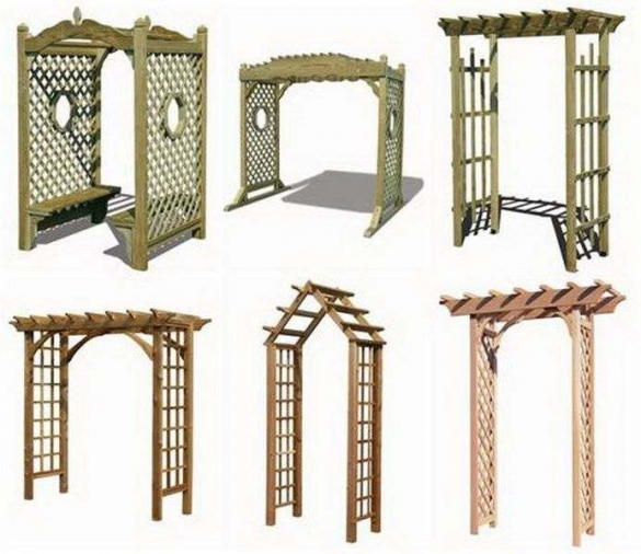 Типы и виды конструкций пергол