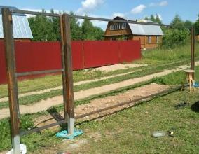 Изготовление каркаса створок ворот из сетки рабицы