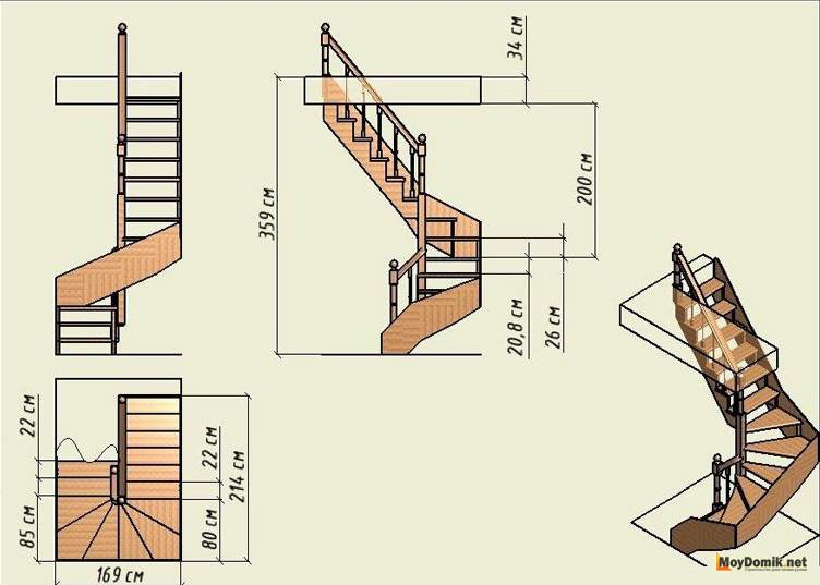 Чертежи лестницы на второй этаж своими руками из металла