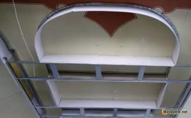Покраска потолок из гипсокартона видео