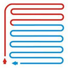 Схема укладки теплого пола - змейка