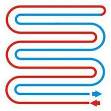 Схема укладки теплого пола - двойная змейка (меандр)