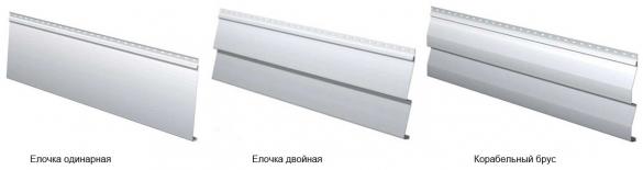 Стеновой сайдинг металлический - елочка, корабельный брус