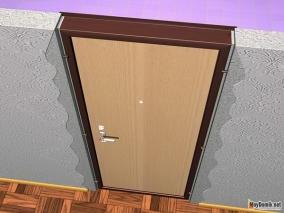 Крепление дверной коробки к стене