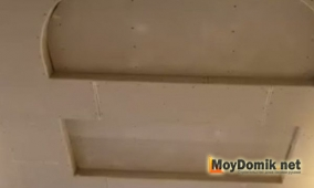 Потолок, зашитый гипсокартоном