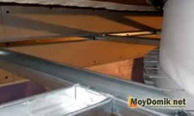Устройство каркаса 2х-уровневого потолка из гипсокартона
