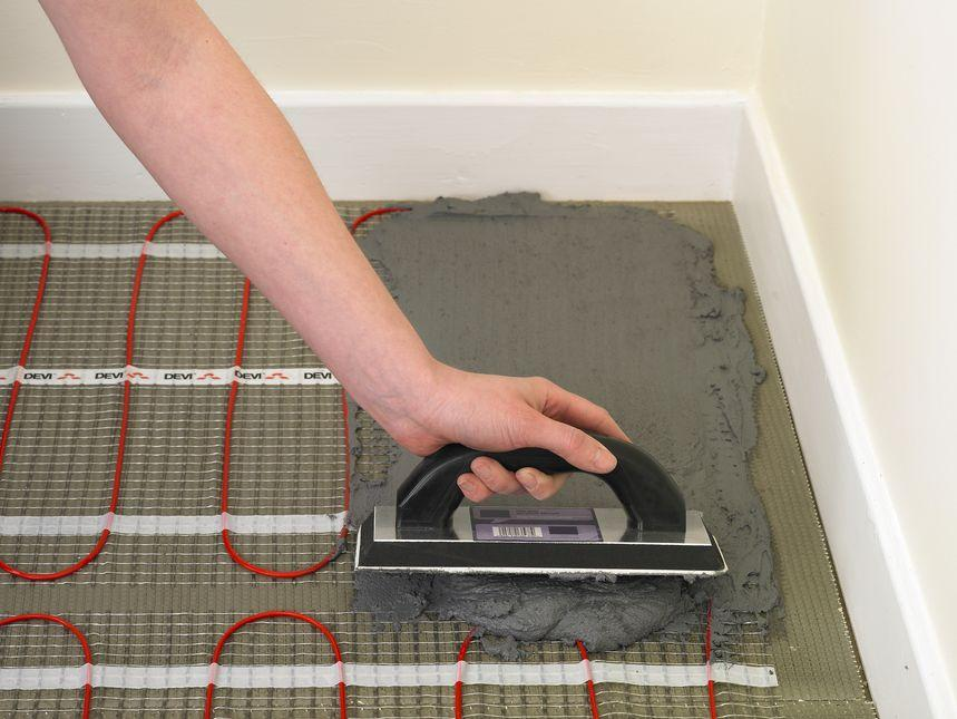 Электрический теплый пол под плитку как сделать