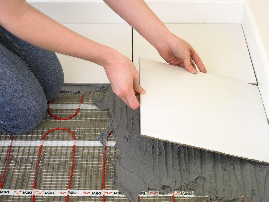 Тёплые полы электрические под плитку своими руками фото 76