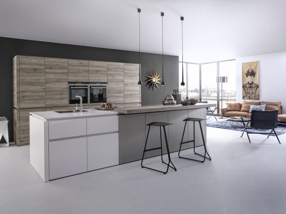 Кухня студия в стиле минимализм