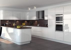 Стиль минимализм в дизайне кухни студии